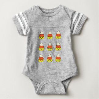 Funny Candy Corn Emoji Baby Bodysuit