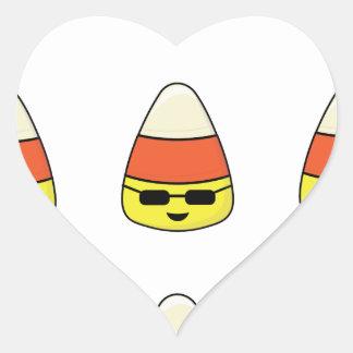 Funny Candy Corn Emoji Heart Sticker