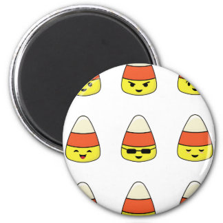 Funny Candy Corn Emoji Magnet