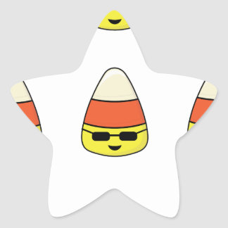 Funny Candy Corn Emoji Star Sticker