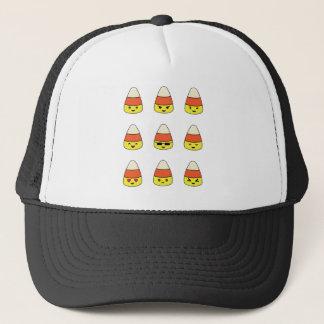 Funny Candy Corn Emoji Trucker Hat