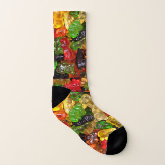 funny candy lover colorful Gummy bear Socks
