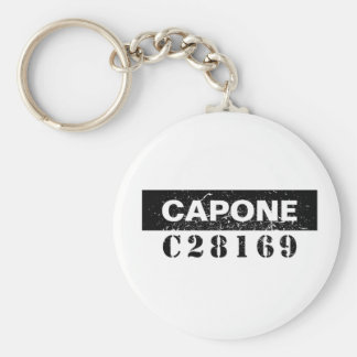 Funny Capone Basic Round Button Key Ring