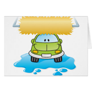 Funny Car In A Car Wash Greeting Cards