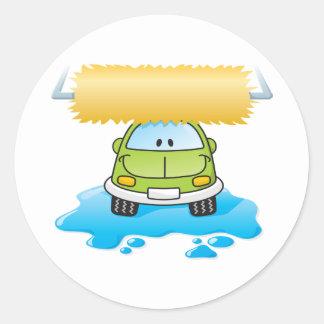Funny Car In A Car Wash Stickers