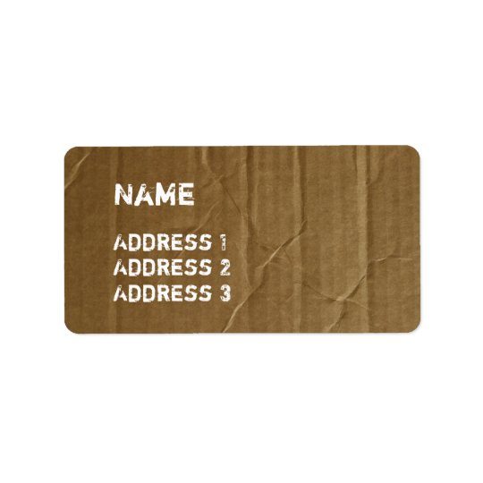 Funny Cardboard Labels