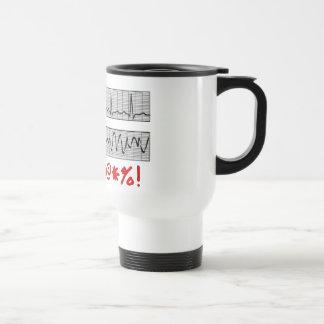 Funny Cardiac Rhythm Strip Gifts Travel Mug