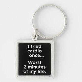 Funny Cardio Gym Motivational Humor Keychains