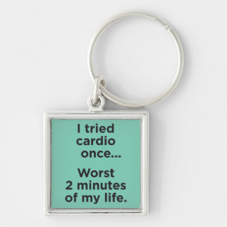 Funny Cardio Gym Motivational Humor Key Chain
