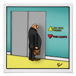 Funny  Career Path Workplace Poster