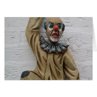 Funny Carnival Clown hanging on wall Greeting Card