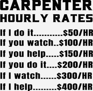 Funny Carpenter Quotes T-Shirts & Shirt Designs | Zazzle com au