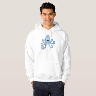 Funny cartoon baby boy octopus hooded pullover