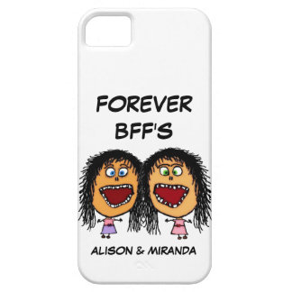 Funny Cartoon Best Friends BFF's iPhone 5 Case
