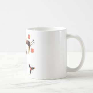 funny CARTOON BIRDS on happy holiday Coffee Mug