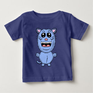 Funny Cartoon Blue Cat Shirt