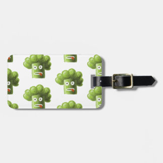 Funny Cartoon Broccoli Pattern Personalized Luggage Tag
