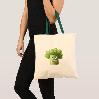 Funny Cartoon Broccoli Tote Bag
