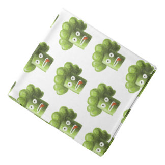 Funny Cartoon Broccoli Vegetarian Pattern Bandana