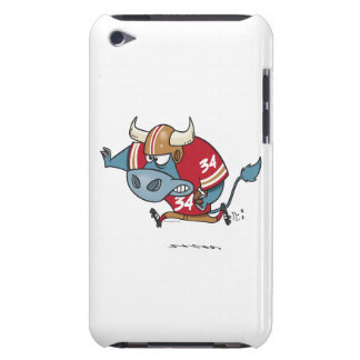 funny cartoon bull playing football iPod touch Case-Mate case