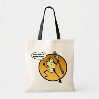 FUNNY CARTOON BURRITO GRAPHIC TOTE BAG
