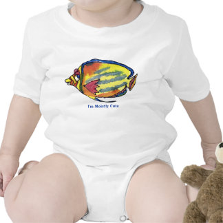 Funny Cartoon Butterfly Fish Cute Infant Bodysuits