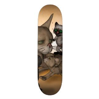 Funny cartoon cat mom skateboard decks