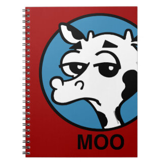 FUNNY CARTOON COW SPIRAL NOTEBOOK