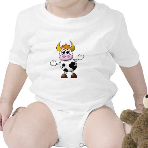 Funny Cartoon Cow Bodysuit