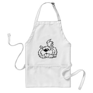 Funny cartoon dog standard apron