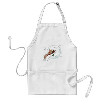 Funny Cartoon Dogs in Snow Apron