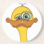 Funny Cartoon Duck Drink Coasters