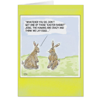 Funny Cartoon Easter Rabbits Card