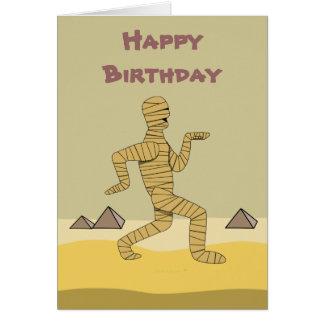 Funny Cartoon Egyptian Mummy Pyramids Custom Card
