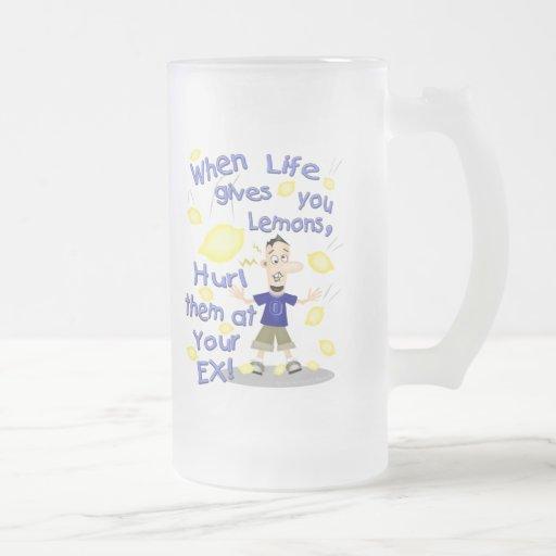 Funny Cartoon Ex-Husband / Divorce Humour Frosted Glass Mug
