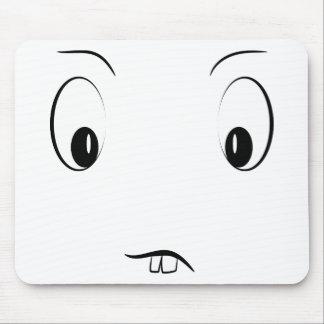 Funny cartoon face mouse pad
