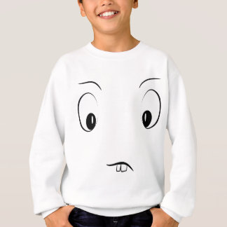 Funny cartoon face sweatshirt