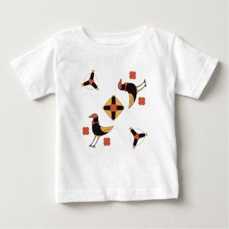 funny CARTOON fairytale birds on happy holiday. Baby T-Shirt