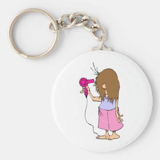 Funny Cartoon for Sleepyheads Key Ring