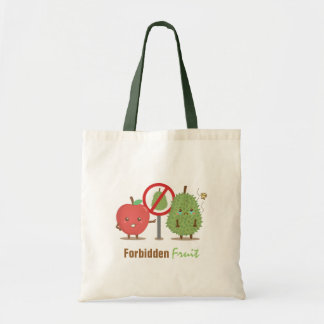 Funny Cartoon, Forbidden Fruit, Apple and Durian
