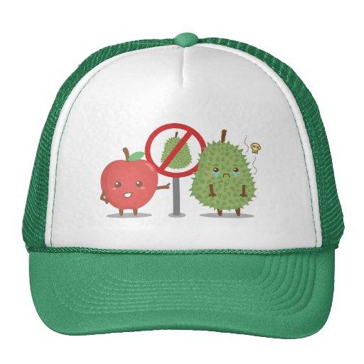 Funny Cartoon, Forbidden Fruit, Apple and Durian Hats