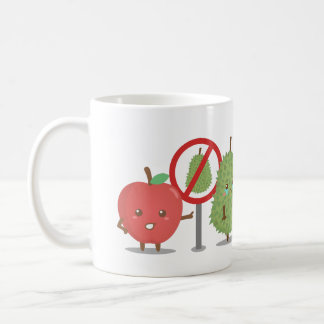 Funny Cartoon Forbidden Fruit Apple and Durian Mugs