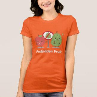 Funny Cartoon, Forbidden Fruit, Apple and Durian T-Shirt