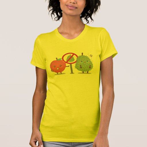 Funny Cartoon, Forbidden Fruit, Apple and Durian T-shirts