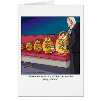 Funny Cartoon Greeting Card- Nesting dolls Scam Card