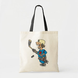 Funny Cartoon Hockey Player T-shirts and Gifts Bags