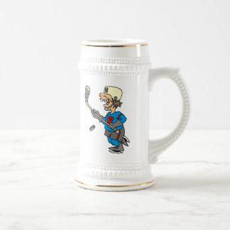 Funny Cartoon Hockey Player T-shirts and Gifts Mug