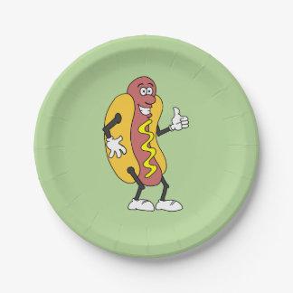 Funny Cartoon Hot Dog Plates