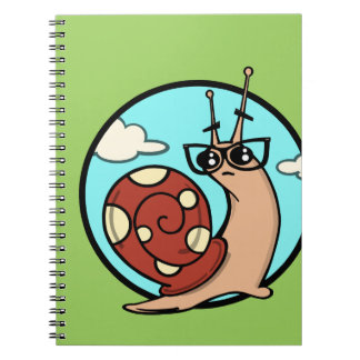 FUNNY CARTOON INQUISITIVE SNAIL NOTEBOOK
