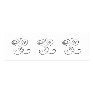 Funny Cartoon Insect Face Pack Of Skinny Business Cards